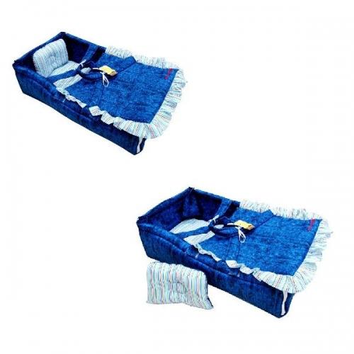 harga Kuma Baby Crib Biru Denim Salur Dam6325 - Tempat Tidur Bayi Blanja.com