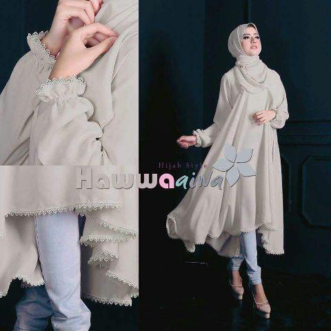 Hijab Aiwa 2in1 Grey