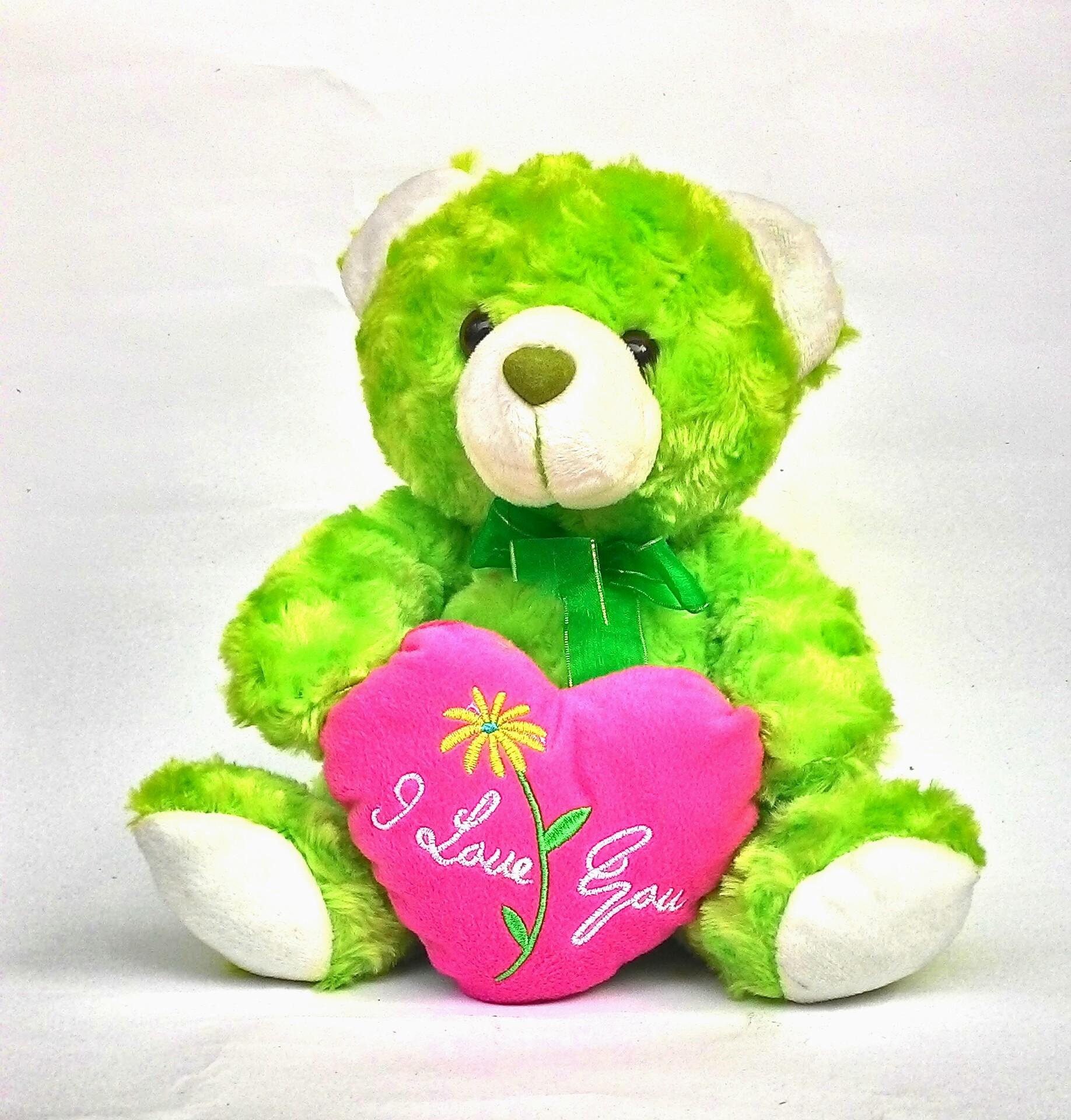 Jual Boneka Teddy Bear Green   Boneka Beruang Hijau- bantal love t ... 27b3981eb5