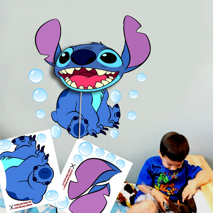 Jual Lampu Hias Dinding Unik 3D Lilo Stitch Kado Unik Anak