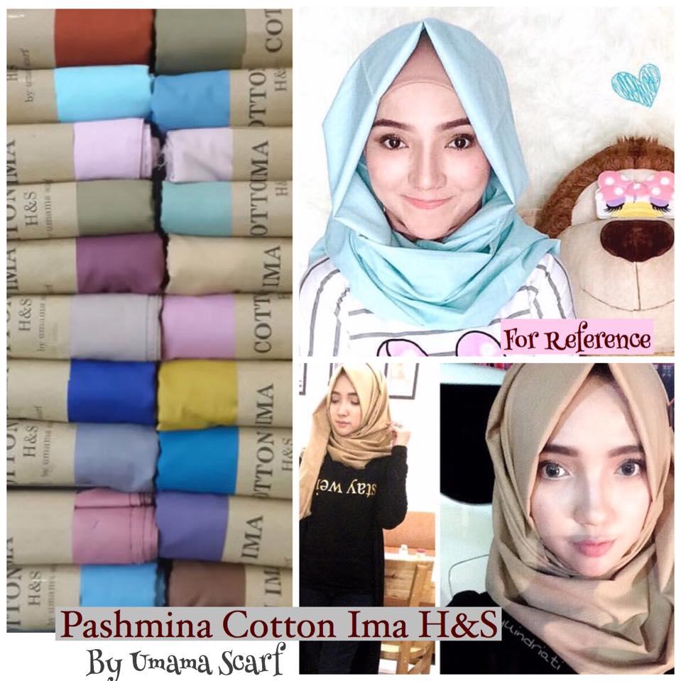 Jual Pashmina Cotton Ima HS By Umama Hijab Allmira Tokopedia