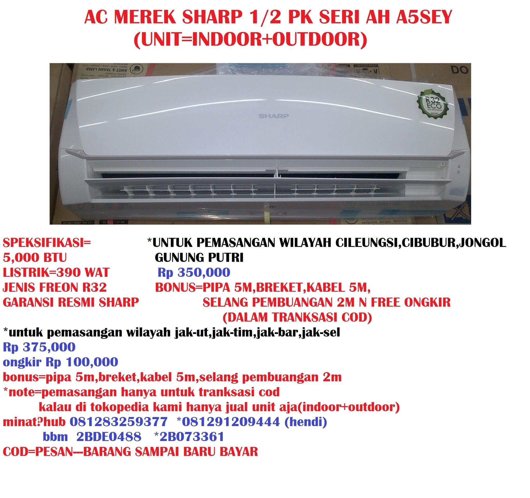 Ac Sharp Split Ah 5sey 1 2 Pk Putih Spec Dan Daftar Harga Terbaru 15 A12sey Untuk Seri Nya Liat Di Foto Produk