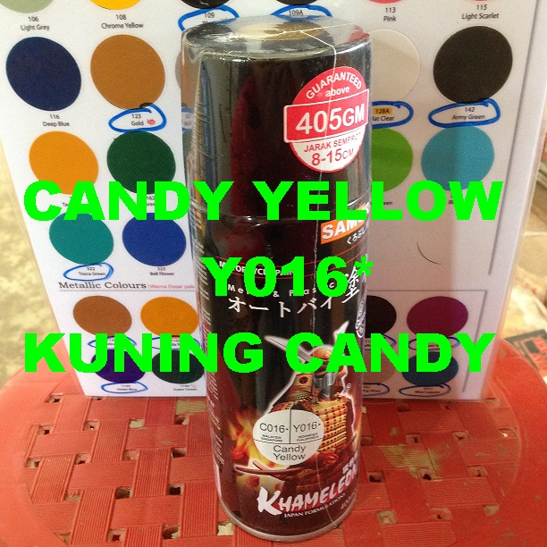 Candy Yellow Spray Paint Part - 22: Diskusi Produk Samurai Paint - Cat Semprot Spray Aerosol Paint - Candy  Yellow Y016* - Sumber Logam   Tokopedia