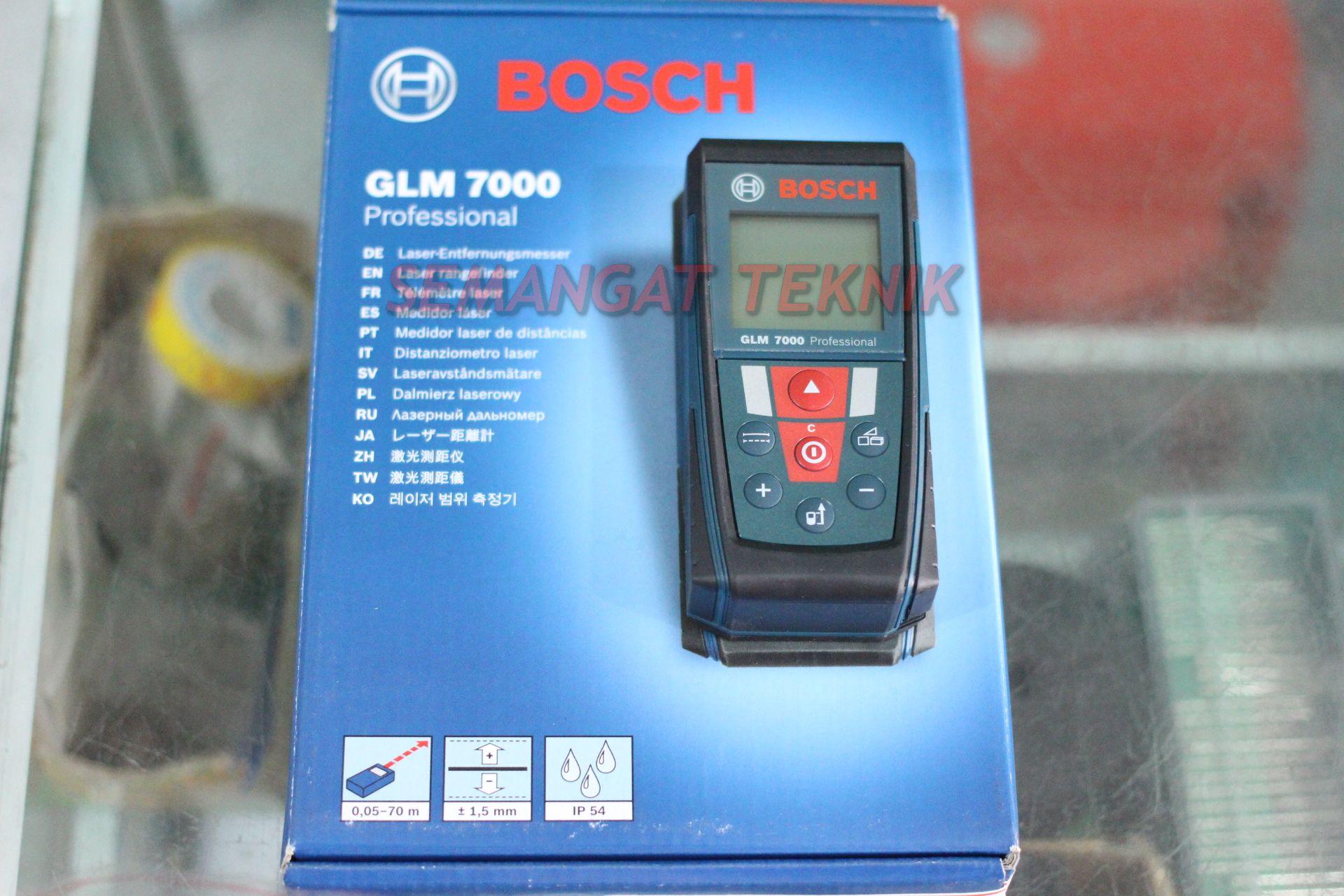 Jual Meteran Laser Digital Glm7000 Bosch Original 70meter Semangat Pengukur Dle 70 Professional Teknik Tokopedia