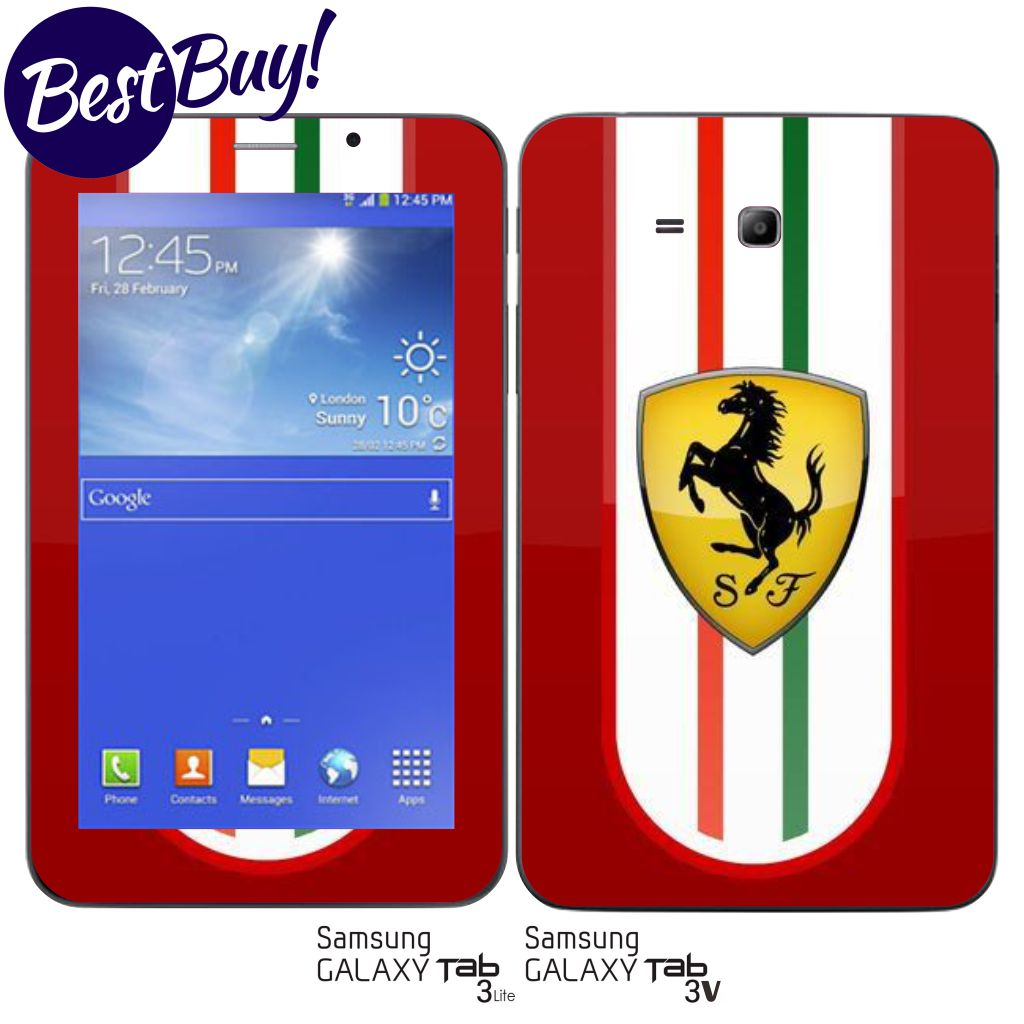 Jual Garskin Skin Samsung Galaxy Tab 3v 3 Lite Ferrari Red Guarskin Indonesia Tokopedia