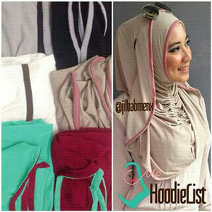 Jilbab Hoodie List Premium / Hijab Instan Hoodie Lis / Hodiei Lis