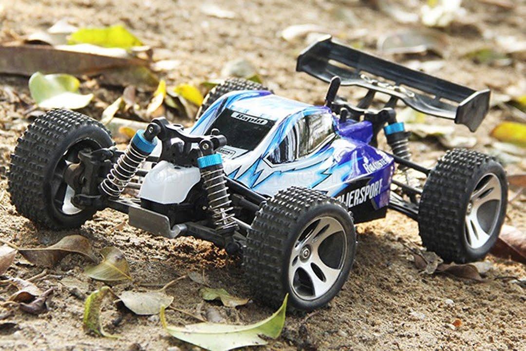 HobbyMall RC Buggy Vortex A959 WL Toys 1:18 Scale 4WD (Biru)