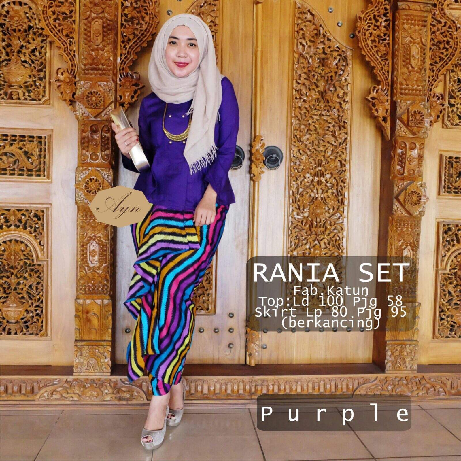Supplier hijab : rania set ori ayn