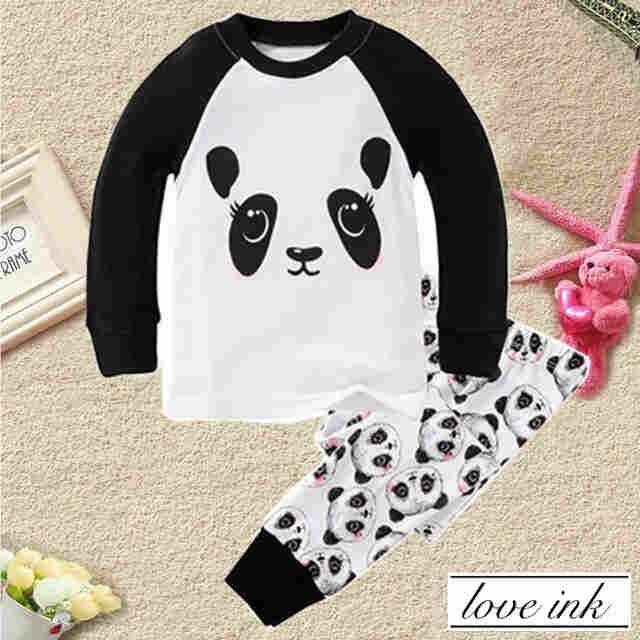 STKD209 - Setelan Anak Panda Cute Full Print Pant