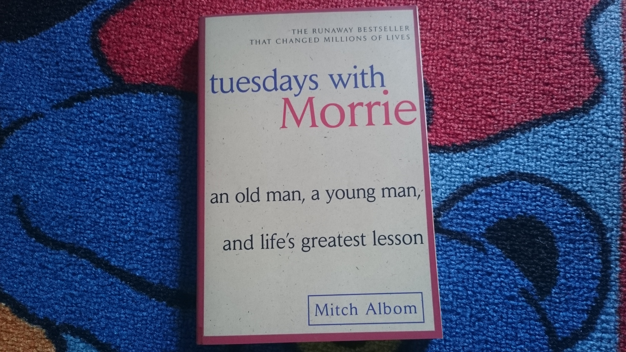 a book analysis of mitch alboms tuesdays with morrie 'tuesdays with morrie' is a short, simple book that proves a work doesn't need to be long or bloated to touch the soul or sell renowned sportswriter mitch albom reconnects with his professor from college after hearing the sad news that his beloved teacher is dying from als (lou gehrig's disease.