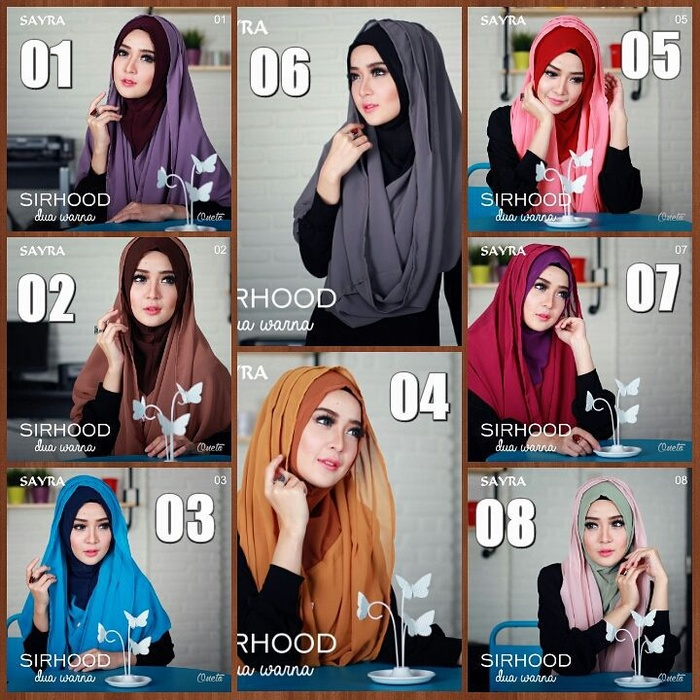 Hijab/Jilbab Sirhood Sayra 2Tone