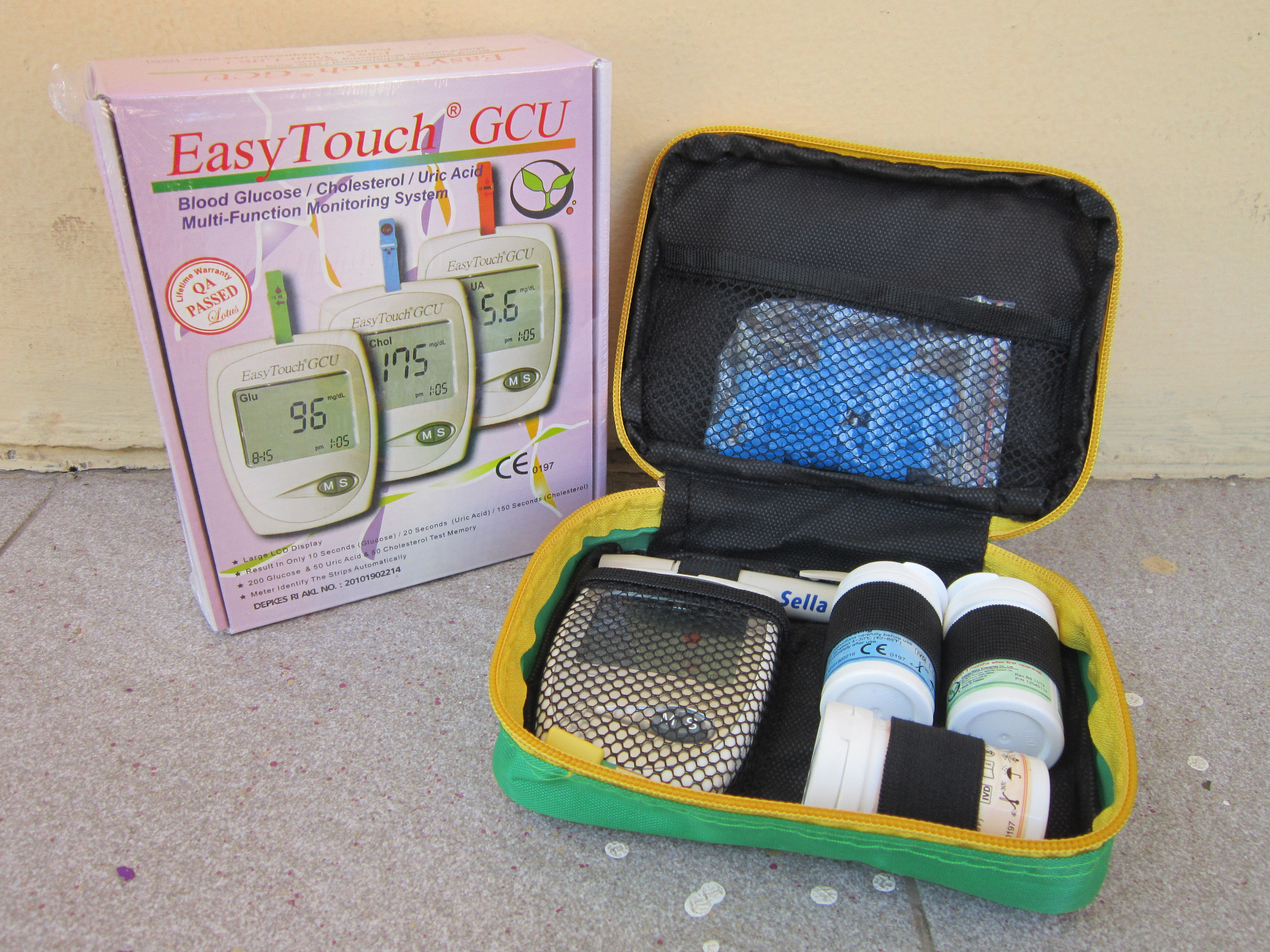 Easy Touch Gcu Blood Glucose Cholesterol Uric Acid Meter Too Much Test Gula Asam Urat 3in1 Can U Get Gout In Toes