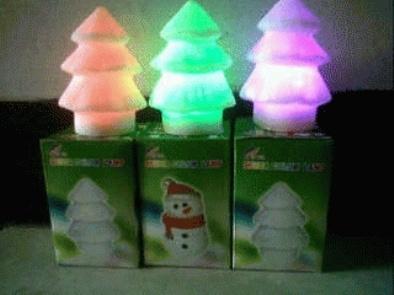 Jual lampu natal santa klaus boneka salju snowman lapu