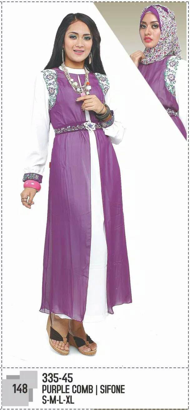 Jual Baju Muslim Wanita Gamis Wanita Dress Kartine