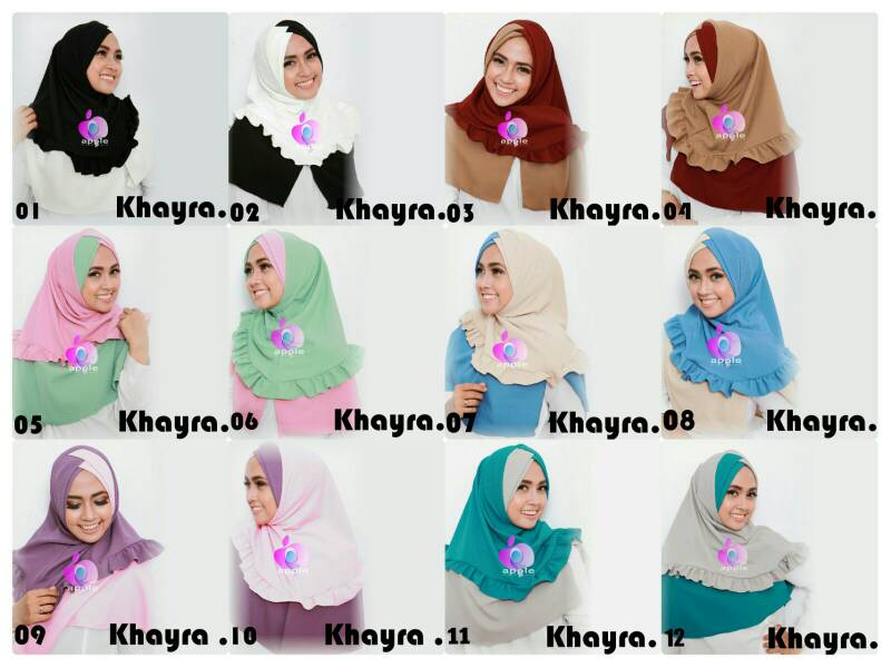 Jilbab Instant Khayra By Apple Hijab Brand