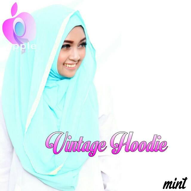 Hijab Vintage Hoodie By Apple Hijab Brand - Jilbab Vintage Hoodie