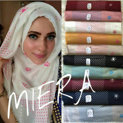 pashmina miera mahkota/hijab