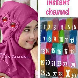 Jilbab Pashmina Instan Pastan channel Instant Pashmina Hijab Kode 1c00