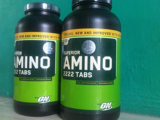Suplemen Fitnes Nutrisi Amino 2222 ON superior 320tablet Malang