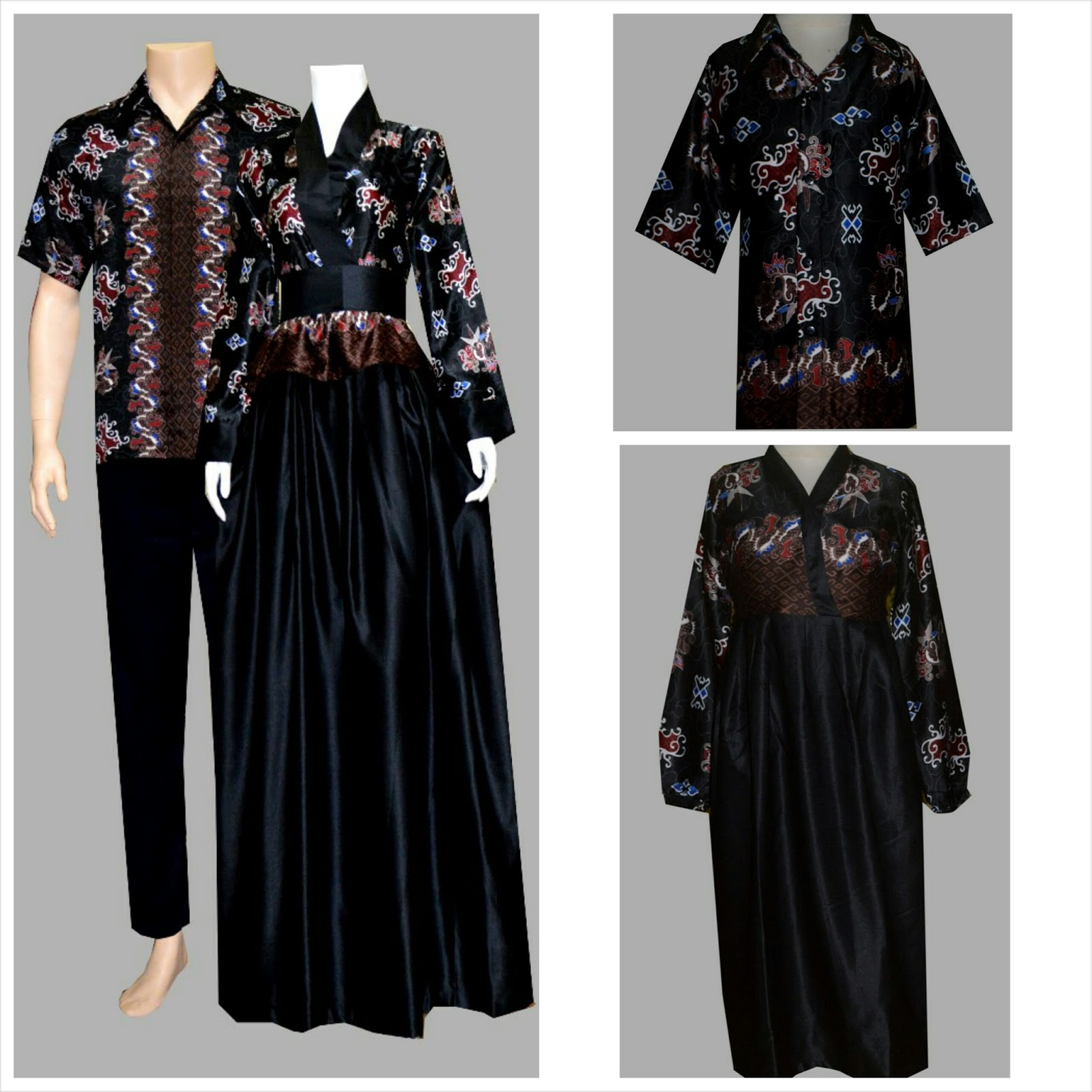 Harga Baju Batik Keluarga Sarimbit Couple Family Gamis Ibu