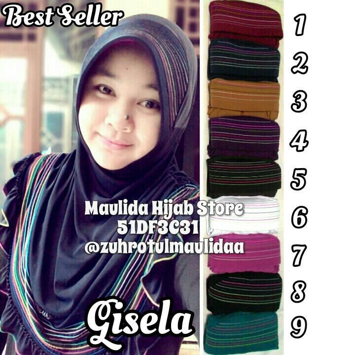 Gisela instan/grosir hijab murah/jilbab bergo spandek jersey