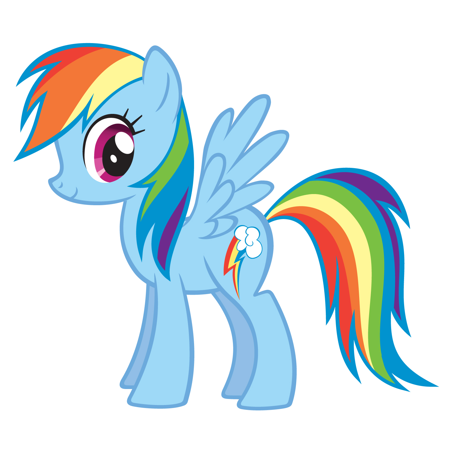 Coloring Pages Rainbow Dash Contegricom