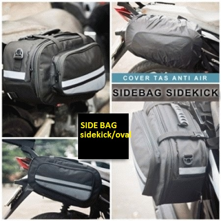 Harga Side Bag Oval / Sidebag motor / tas samping motor (High Quality)