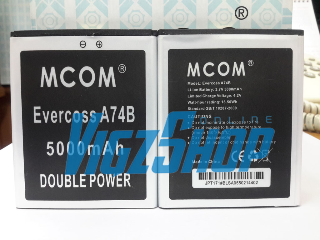 Jual Baterai Battery Cross Evercoss A74b 5000mah Mcom Double Power Vigzshop Online Tokopedia