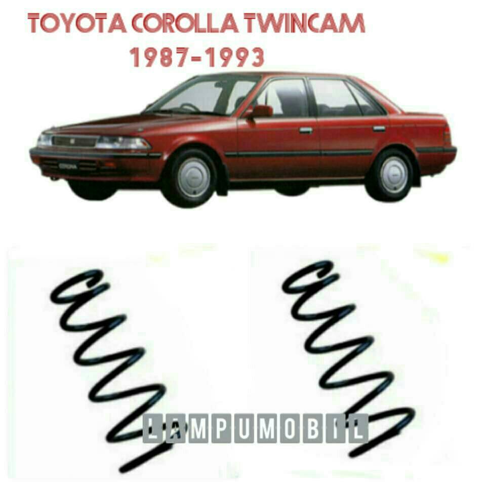 Jual Coil Spring / Per Keong Depan Set Toyota Corolla Twincam ...