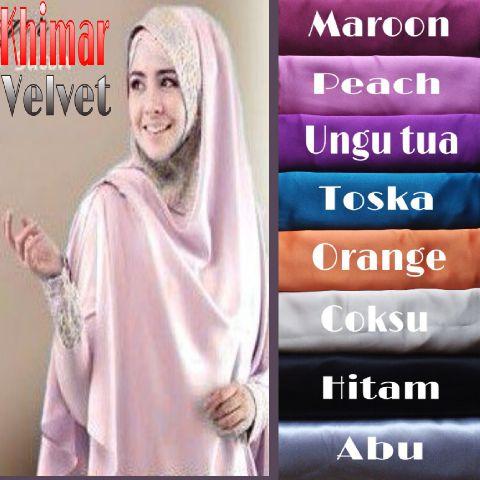Kerudung / Hijab / khimar velvet resty