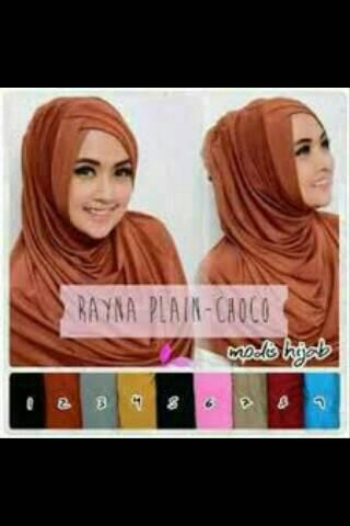 hijab instan rayna plain