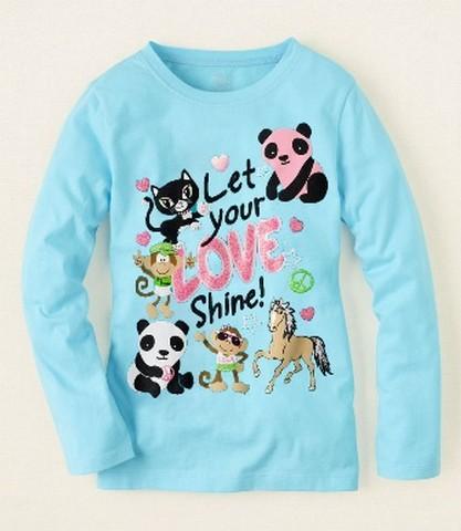 SALE baju anak import kode KA 12 size 2, 3, 4, 5, 6y, kaos animals