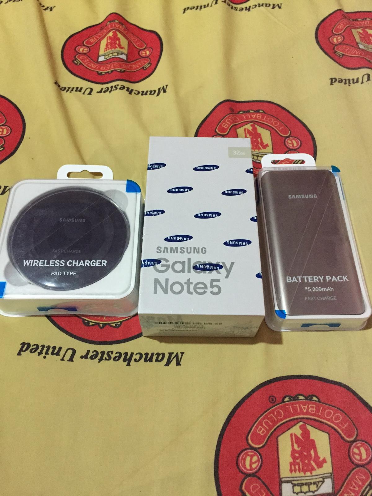 Samsung Galaxy Note 5 RESMI SEIN BONUS Wireless Charging &Battery Pack