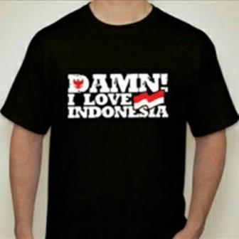 Kaos distro/T-shirt/pakaian Dame in love hitam