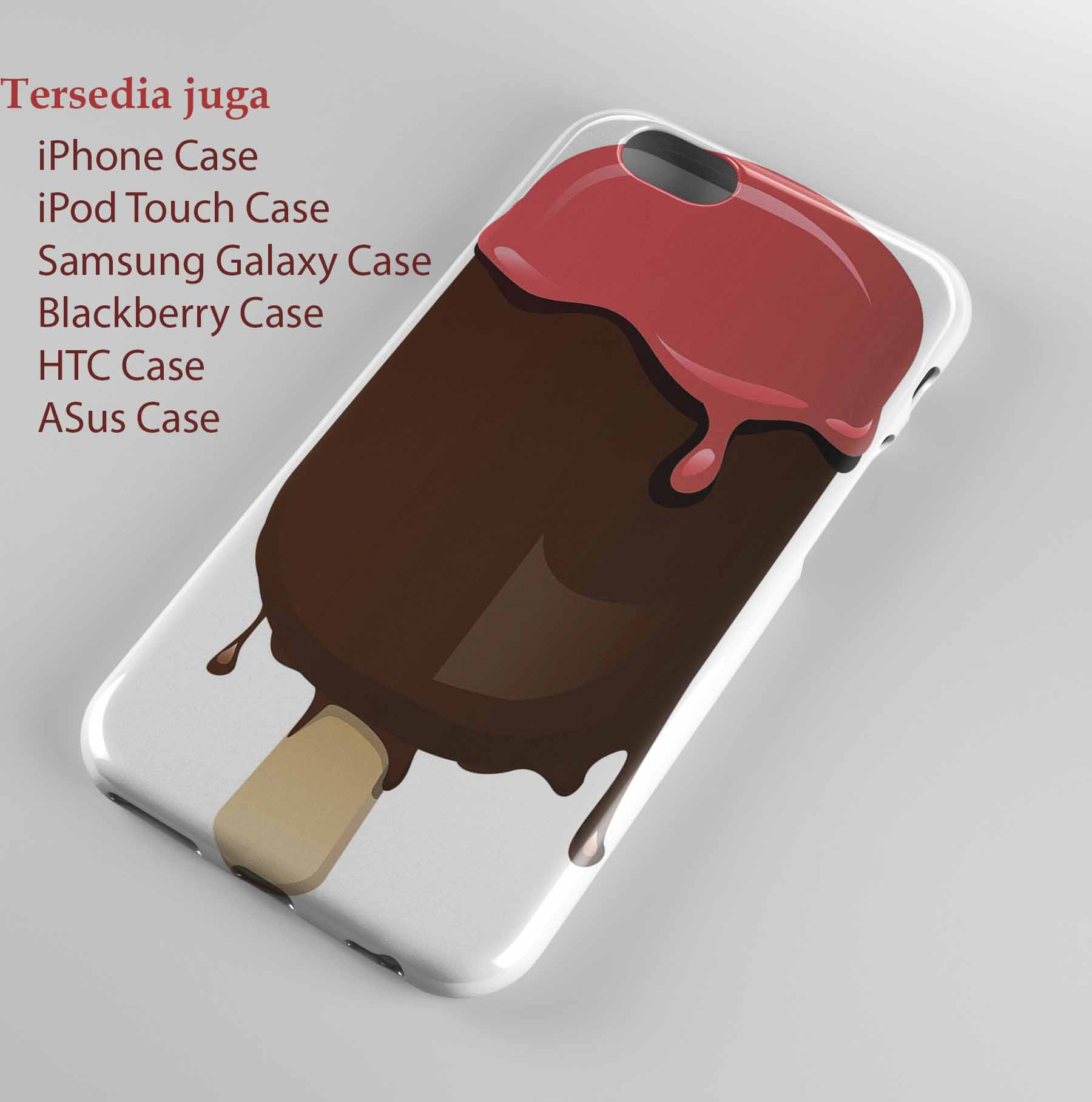 Transparent Ice Cream Stick  Hard case Iphone case dan semua hp