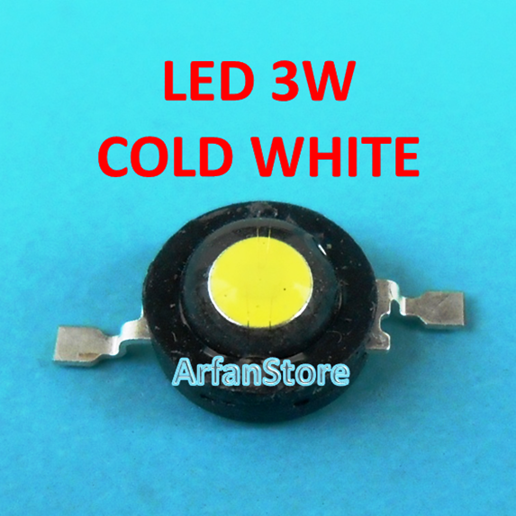 High Power LED HPL 3W Putih Cold White 6000-6500K 3.2-3.4V 700mA