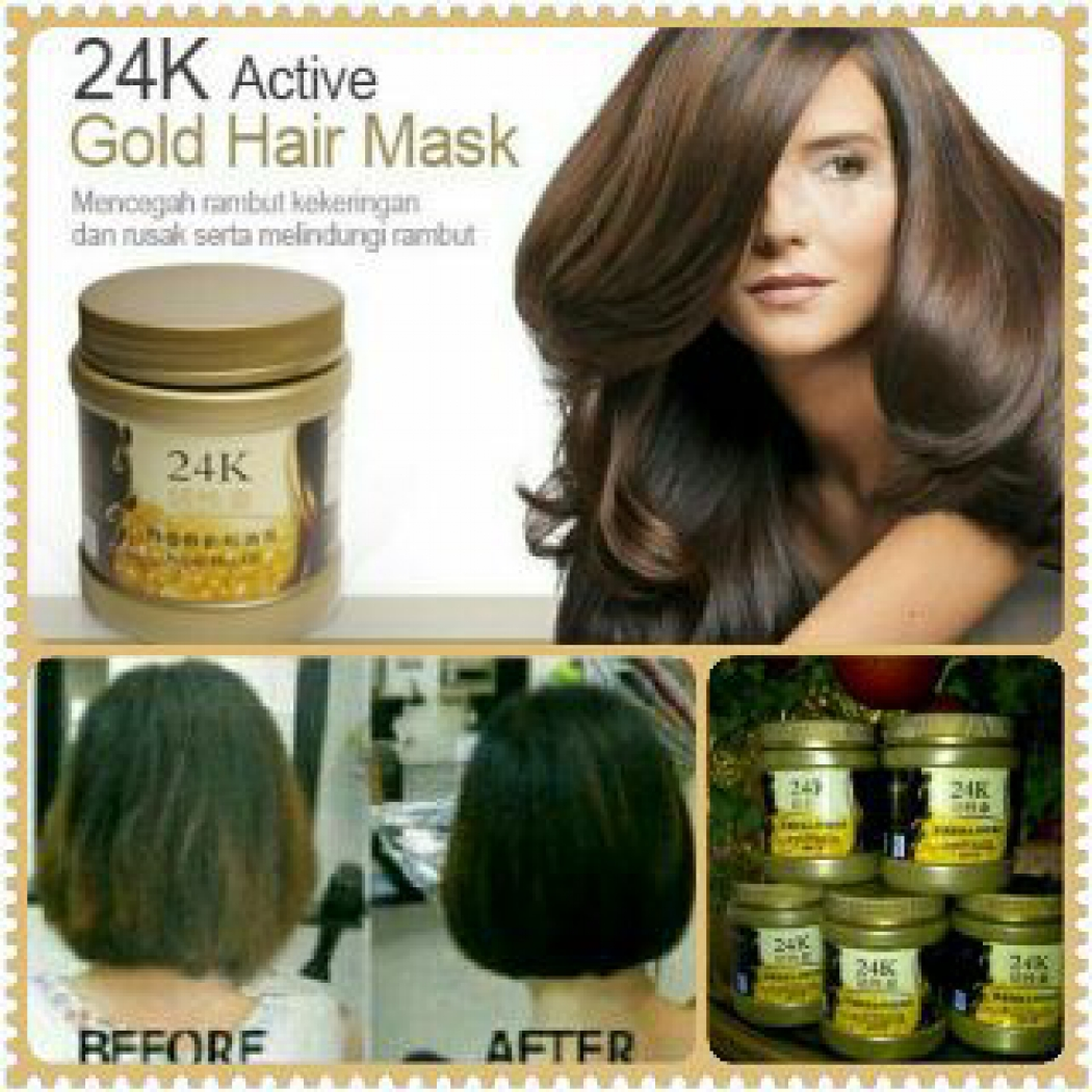 ... Jual Masker rambut 24 k 24K Active Gold Hair Mask Hair mask 24k original Littel Mermaid