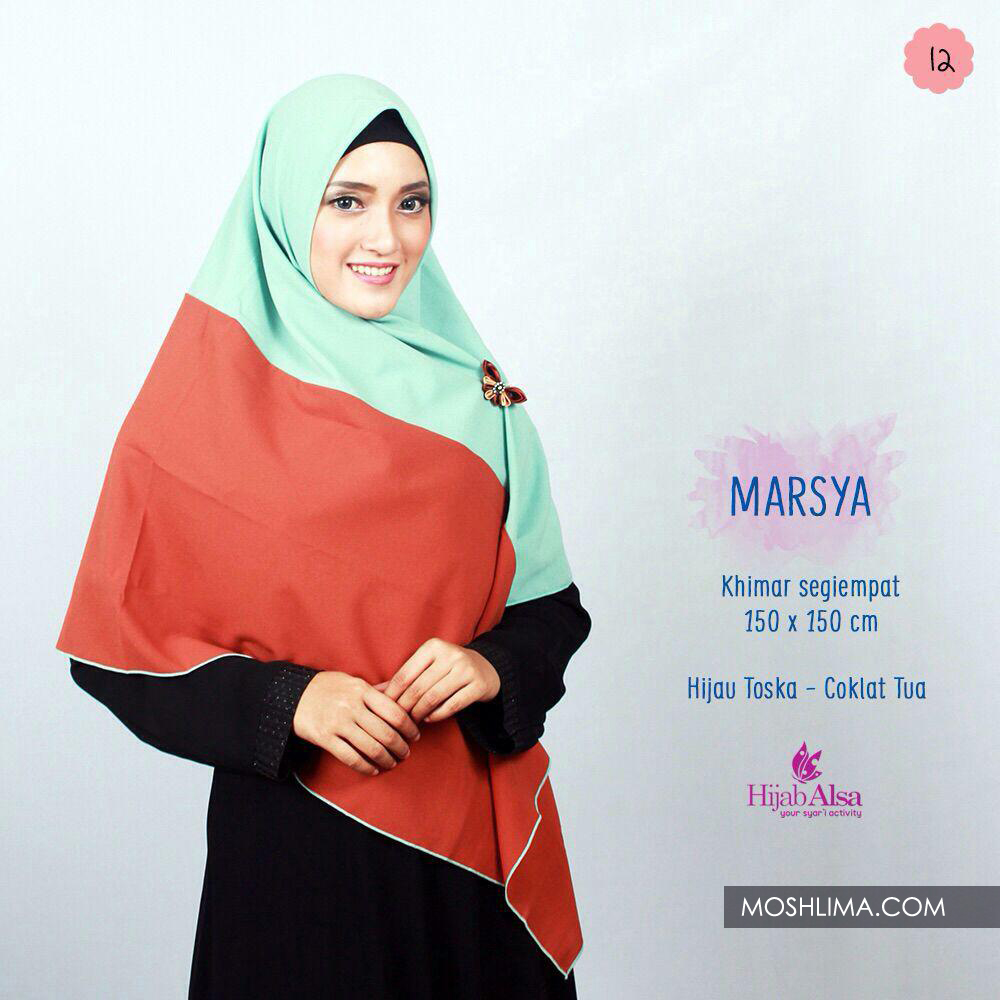 Hijab Dafa Pashmina Bunga Hijab Satin Segi Empat Jilbab Motif Bunga Kombinasi Bahan Satin Motif 1