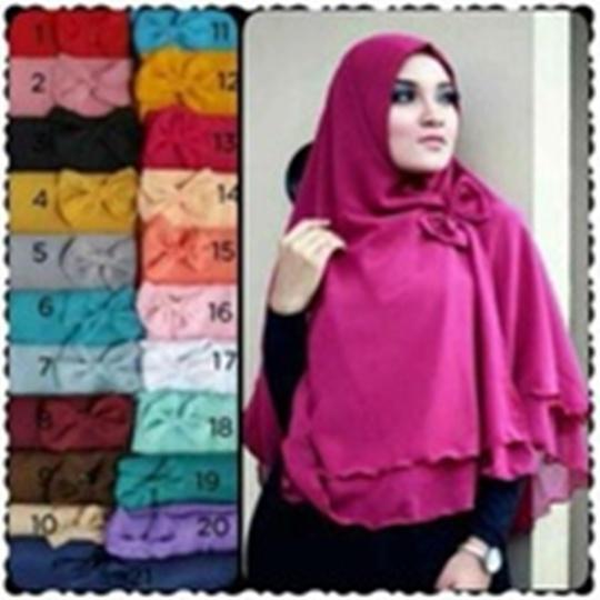 Hijab | Jilbab | Kerudung khimar pet AISYAH + pita