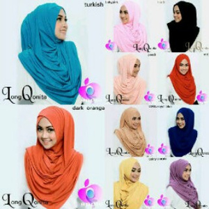 Hijab/Jilbab Instant Long Qonita (Versi Premium)