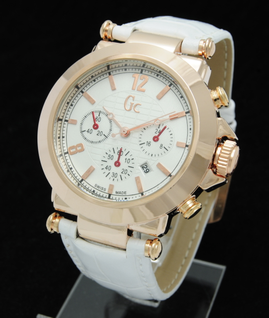 K493 jam tangan cewek gc (guess collection) kulit crono variasi