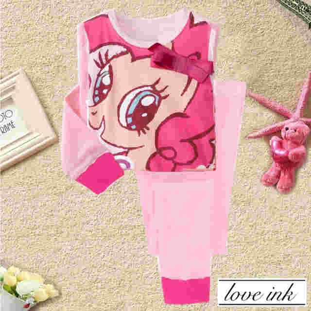 STKD214 - Setelan Anak Little Pony Pink Ribbon Pinky