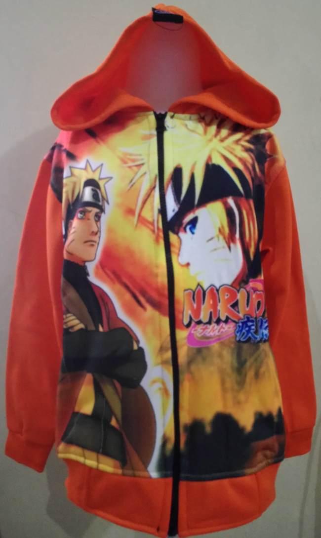 JKKDL36 - Jaket Anak Naruto Orange