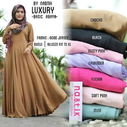 LUXURY BY NABTIK GAMIS DRESS HIJAB MURAH BAGUS