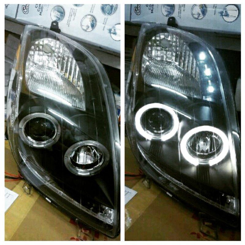 harga Headlamp Toyota Yaris 05-08 Projector Angel Eyes Crystal Black Housing Tokopedia.com