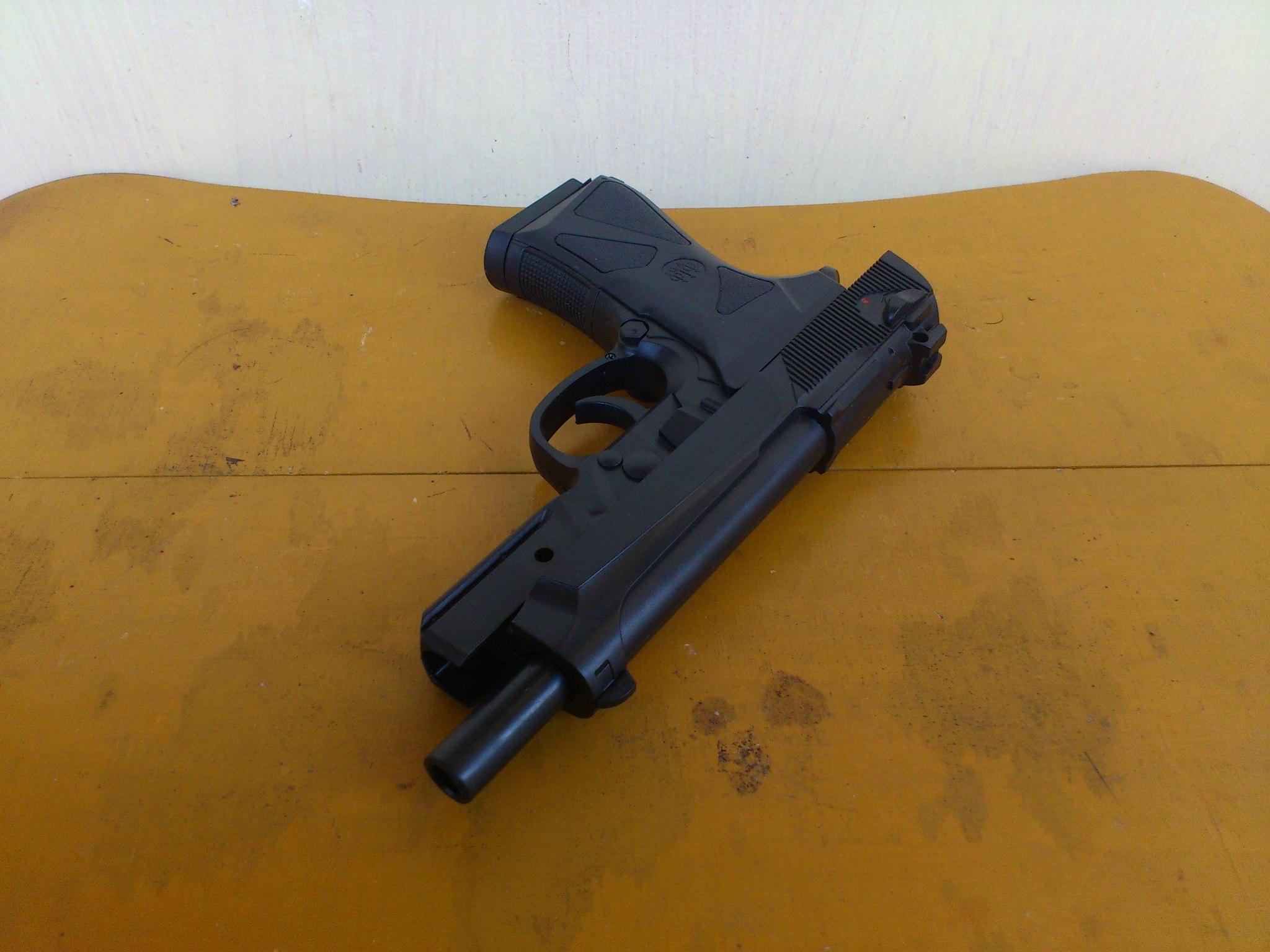 harga Airsoftgun spring Handgun Baretta 90 slide lock Tokopedia.com