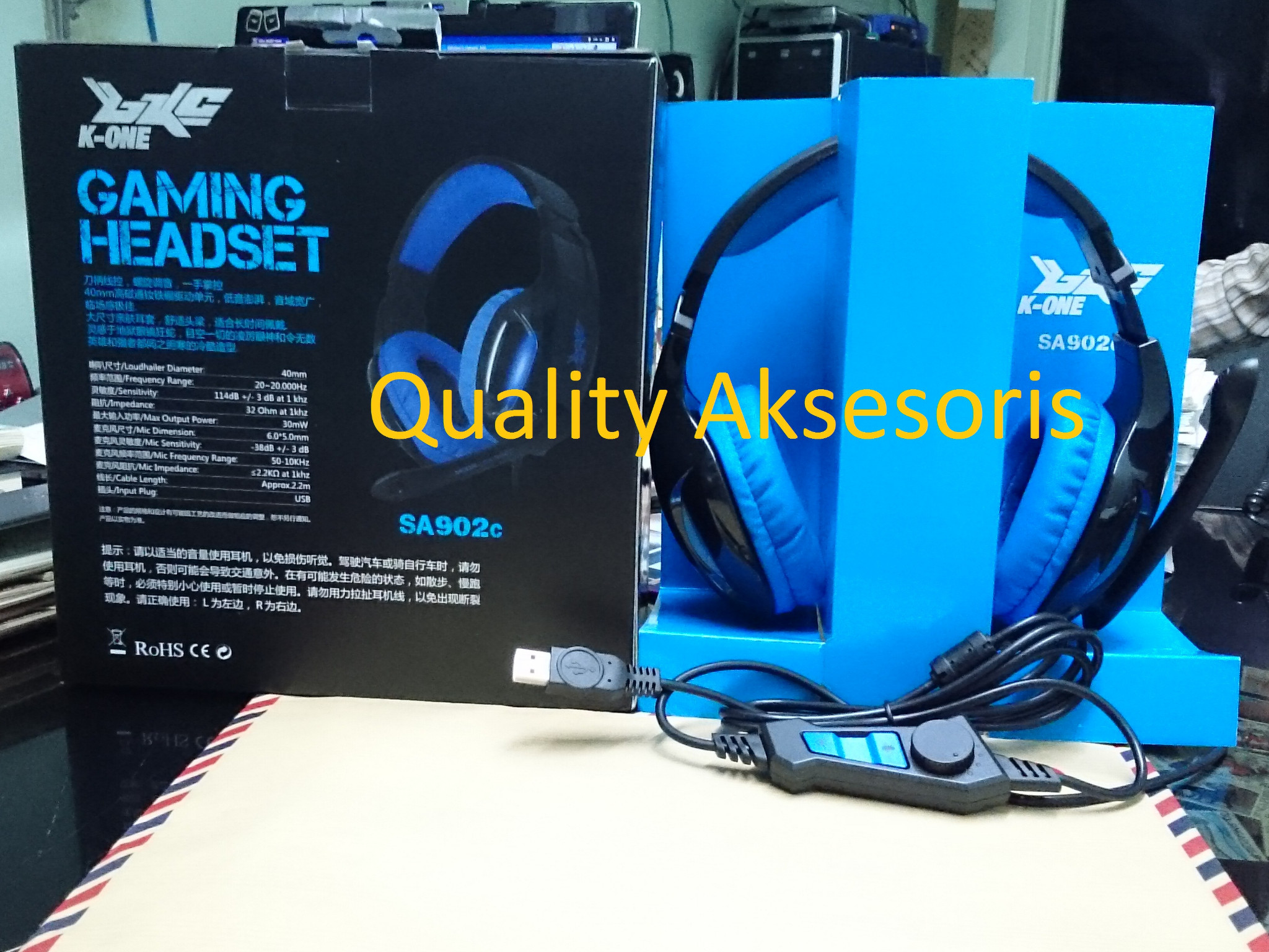 harga Gaming Headset K-One SA 902 c Tokopedia.com
