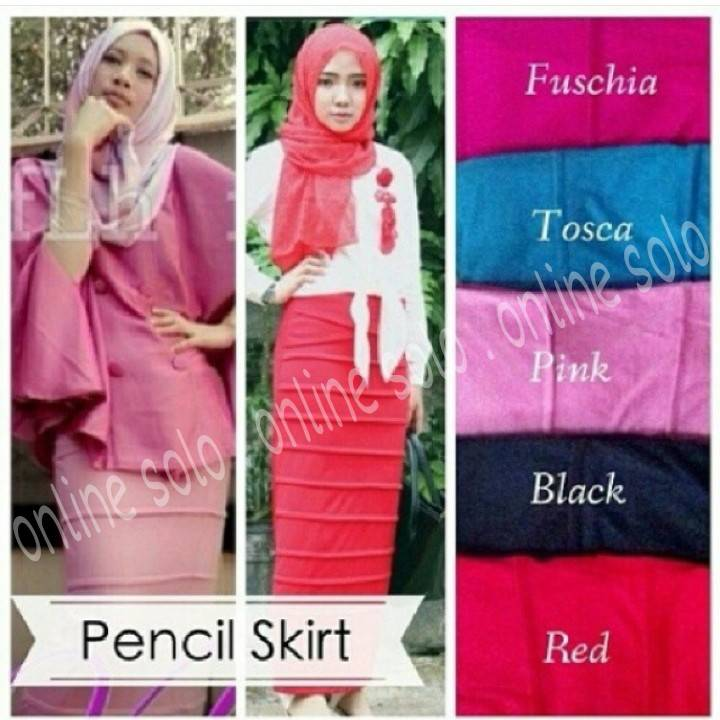 PROMO PENCIL SKIRT ROK SPAN PENSIL PANJANG HIJAB