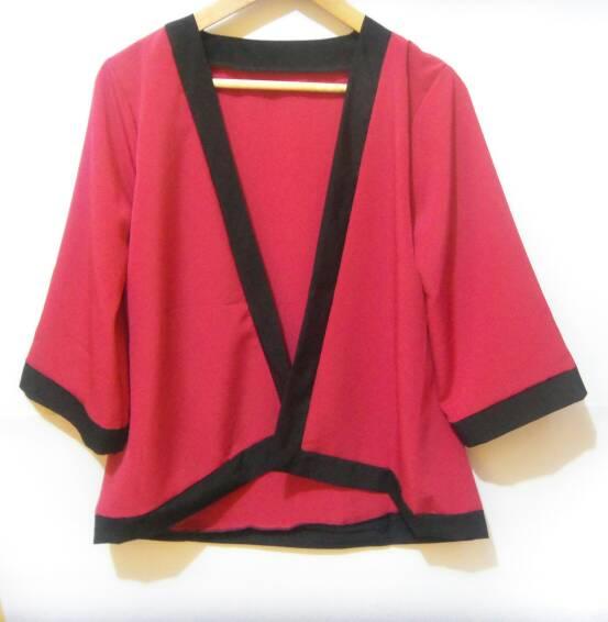 Jual kimono cardy | cardigan | outer | plain kimono polos ...