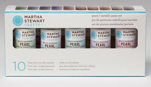 Arcylic Paint Martha Stewart Pearl / Metallic Set 10 / Set